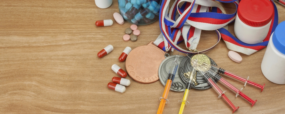 Needles, pills and sport medals.