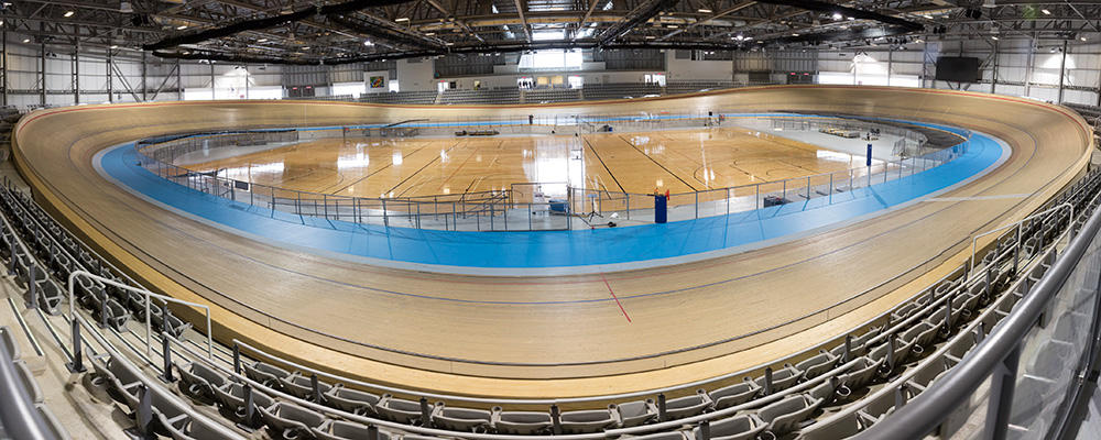 Velodrome cycling track.