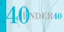 graphic title reading 40 under 40