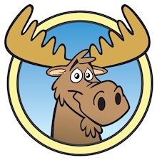 Cartoon image of moose.