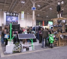 Moderobes Sustainable Garment Company at a tradeshow