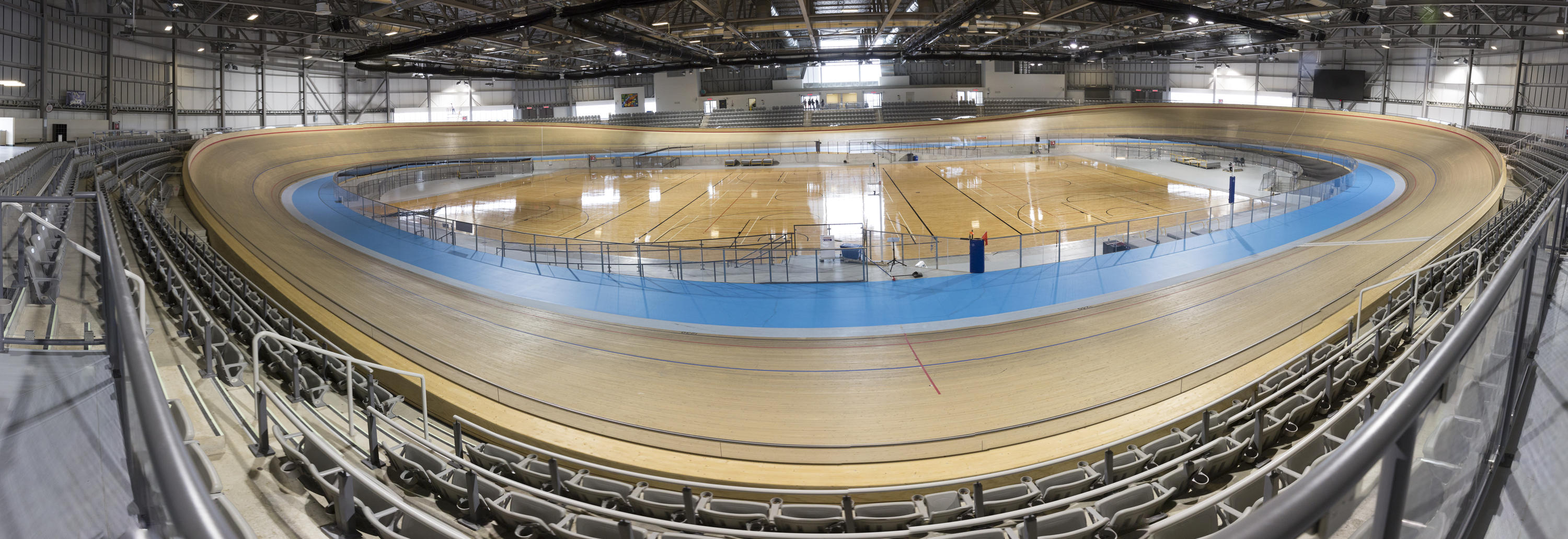 Wide angle view of Milton velodrome