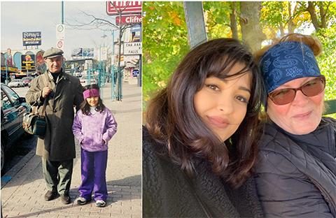 Photos of Victoria with her grandparents.