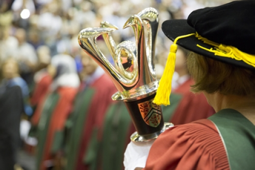 Mace Bearer during procession at convocation