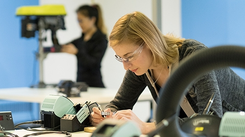 image of student working in lab