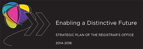 Enabling a Distinctive Future - Strategic Plan of the Registrar's Office 2014-2018