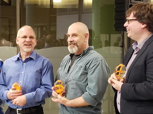 Doug Cowan with other award recipients.