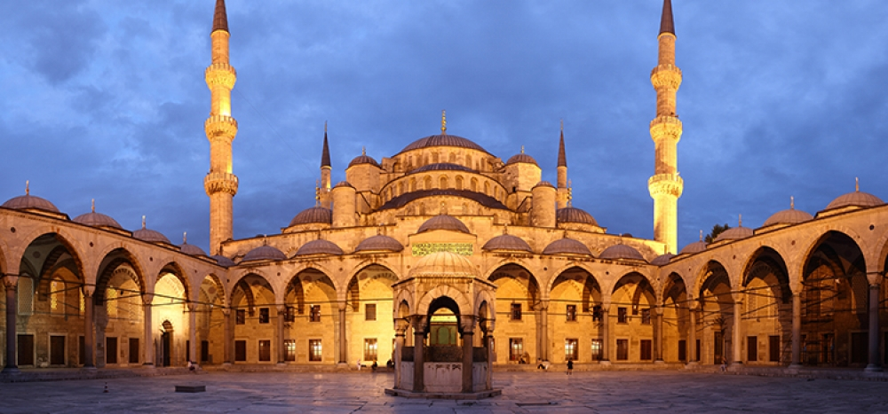 Mosque at night.