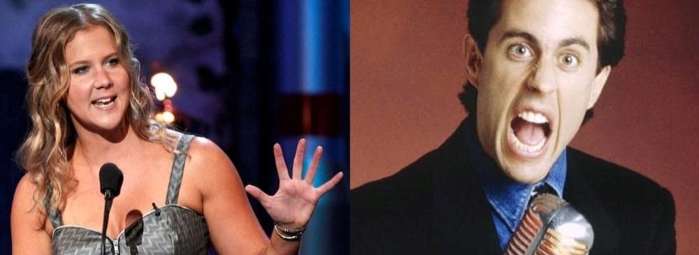 Jewish comedians Amy Schumer and Jerry Seinfeld.
