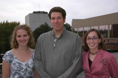 Sarah Johnson, Conrad Hipel, Meagan Lassaline.