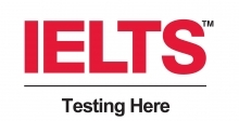 IELTS teting here logo