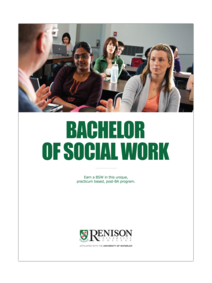 Bachelor of Social Work program brochure