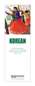 Korean Language brochure