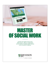 Master of Social Work program brochure