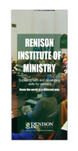 Renison Institute of Ministry brochure