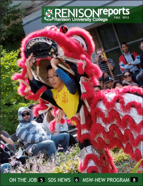 Cover of Renison Reports - Fall 2012 (Lion Dancer)