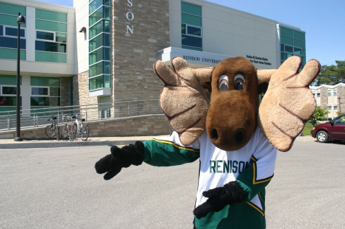 Reni Moose in front of Renison