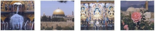 four images from religious sites around the world