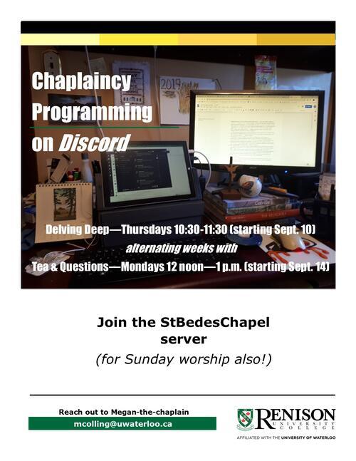 chaplaincy programming poster