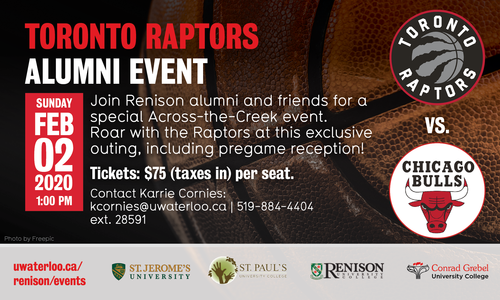 Toronto Raptors alumni event, February 2, 2020. Raptors versus the Chicago Bulls.