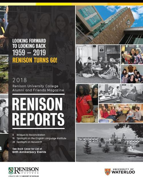 Cover of 2018 edition of Renison reports.
