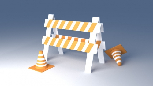 Construction cones with a construction gate