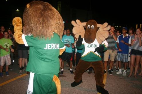 Mascot dance-off