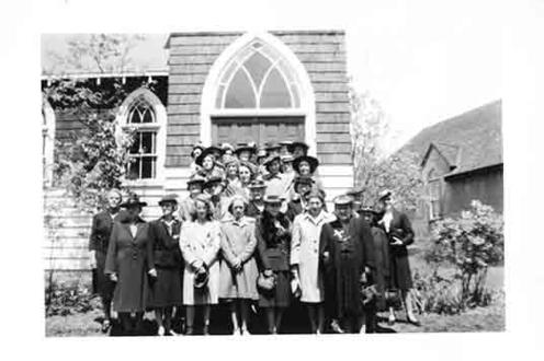Parishioners at St. Mark's in Iroquois Falls, Ontario