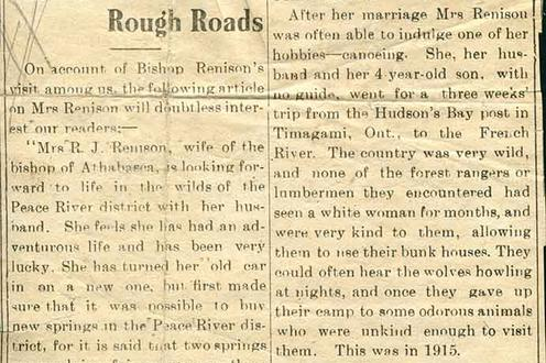 "Newspaper article ""She Has Travelled Rough Roads"""