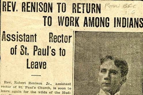 "Newspaper Article ""Rev. Renison to Return to Work Among Indians"""
