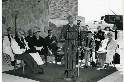 Photograph of the Dedication of the Second Building at Renison College.