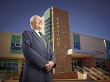 Glenn Cartwright standing in front of Renison circa 2009