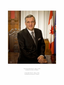 The Honourable David C. Onley, Lt. Governor of Ontario