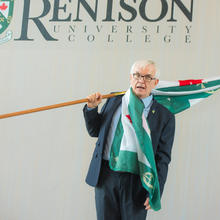 Rick Green with a Renison flag