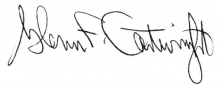 Signature of Glenn Cartwright