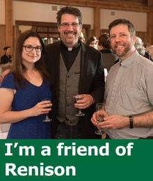 I'm a friend of Renison (photo of one woman and two men)
