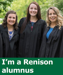 I'm a Renison alumnus (photo of three women graduates)