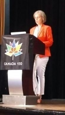 Julia Williams speaks at TESL Canada conference