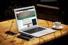 Computer opened to Studies in Islam website