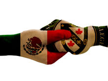 Renison and Mexico hands locked