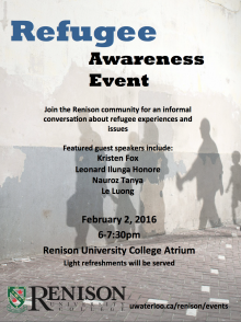 Poster for Refugee event