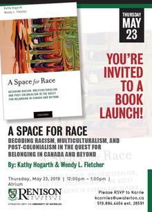 Book Launch poster with book cover