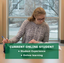 student experience and online learning.