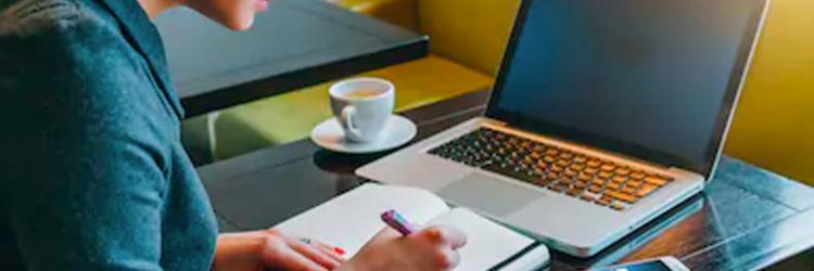 Student at a computer