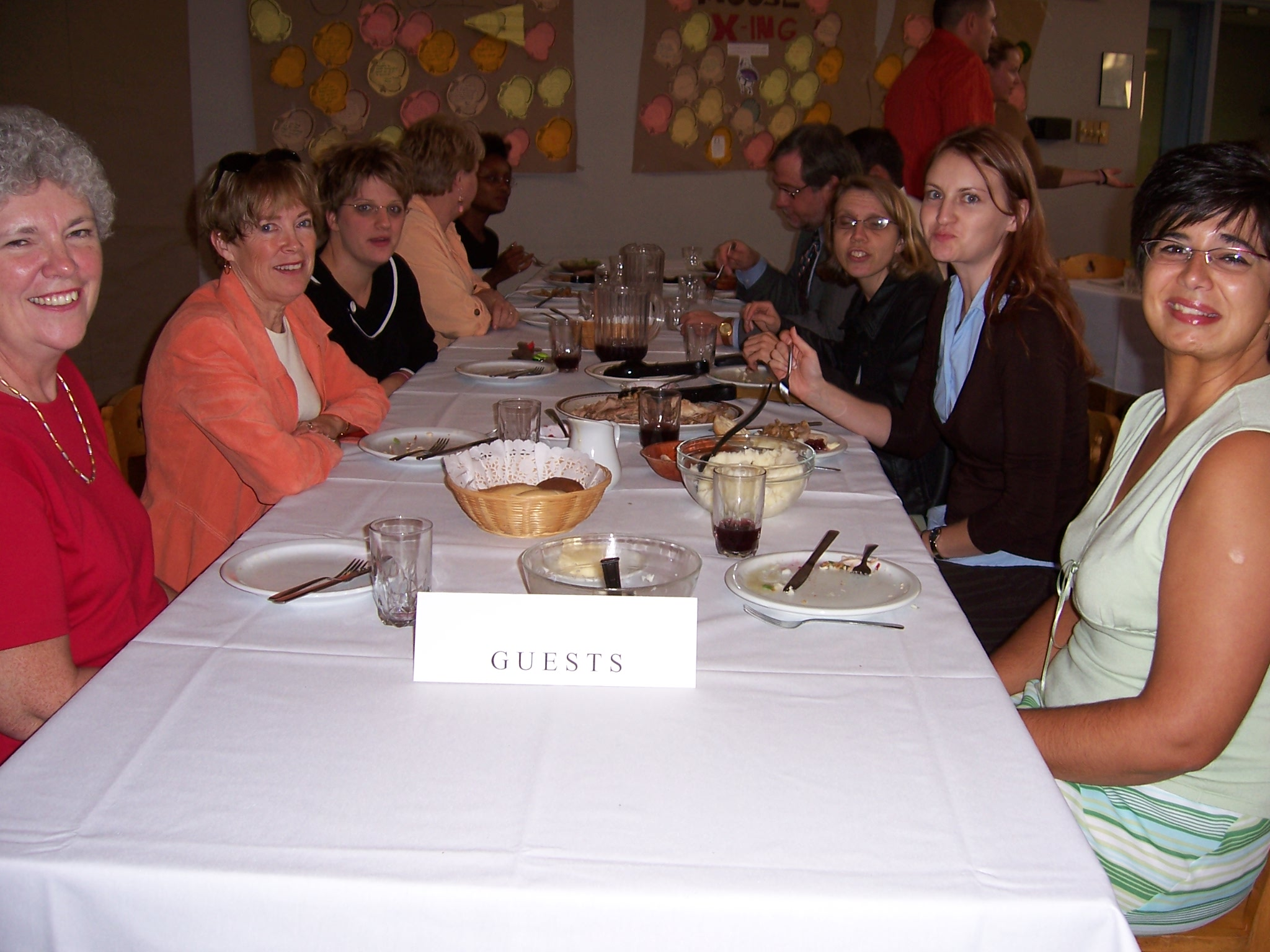 Guests at College Dinner