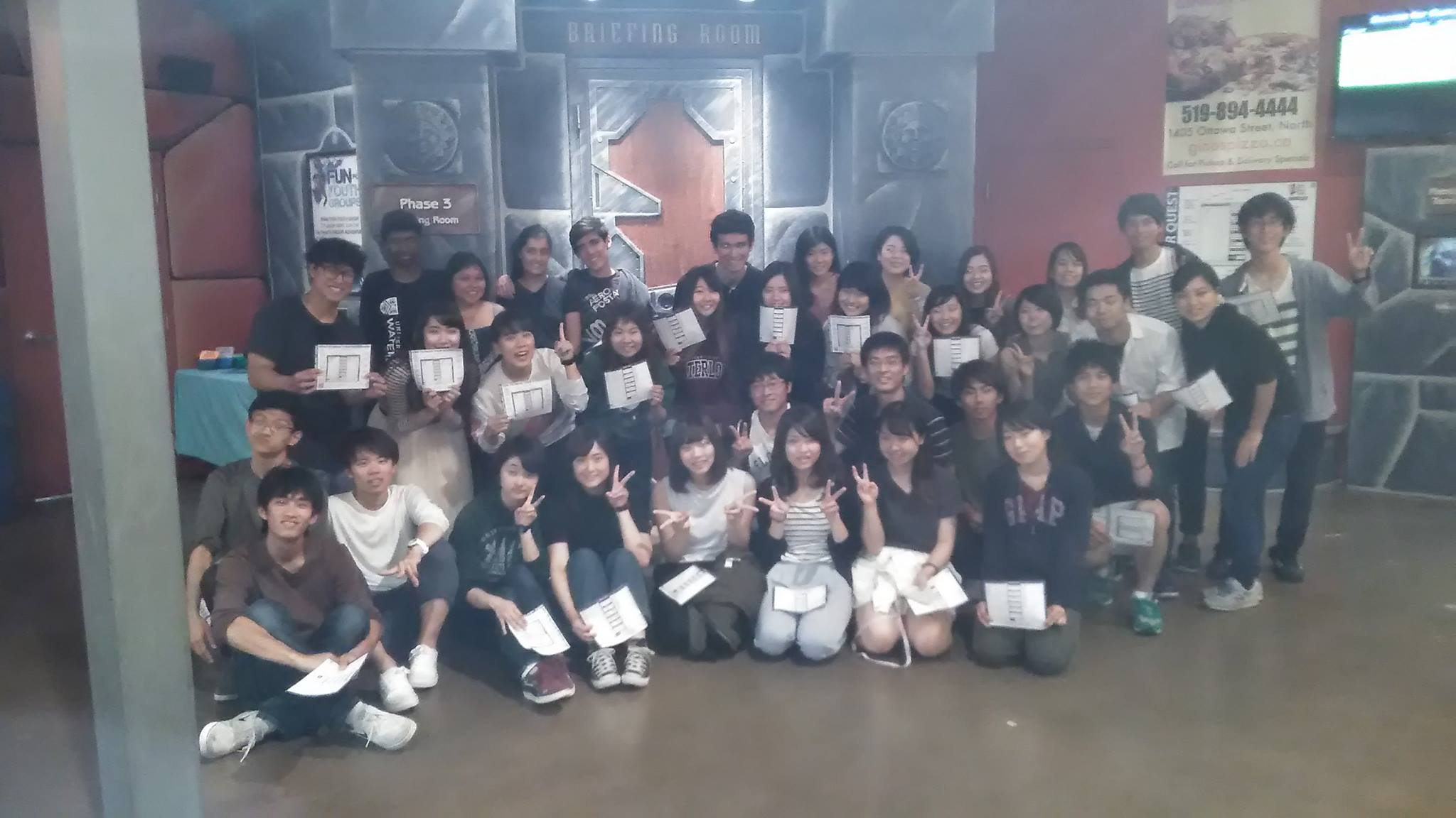 EFAS and GEAR students group photo at Laser Quest