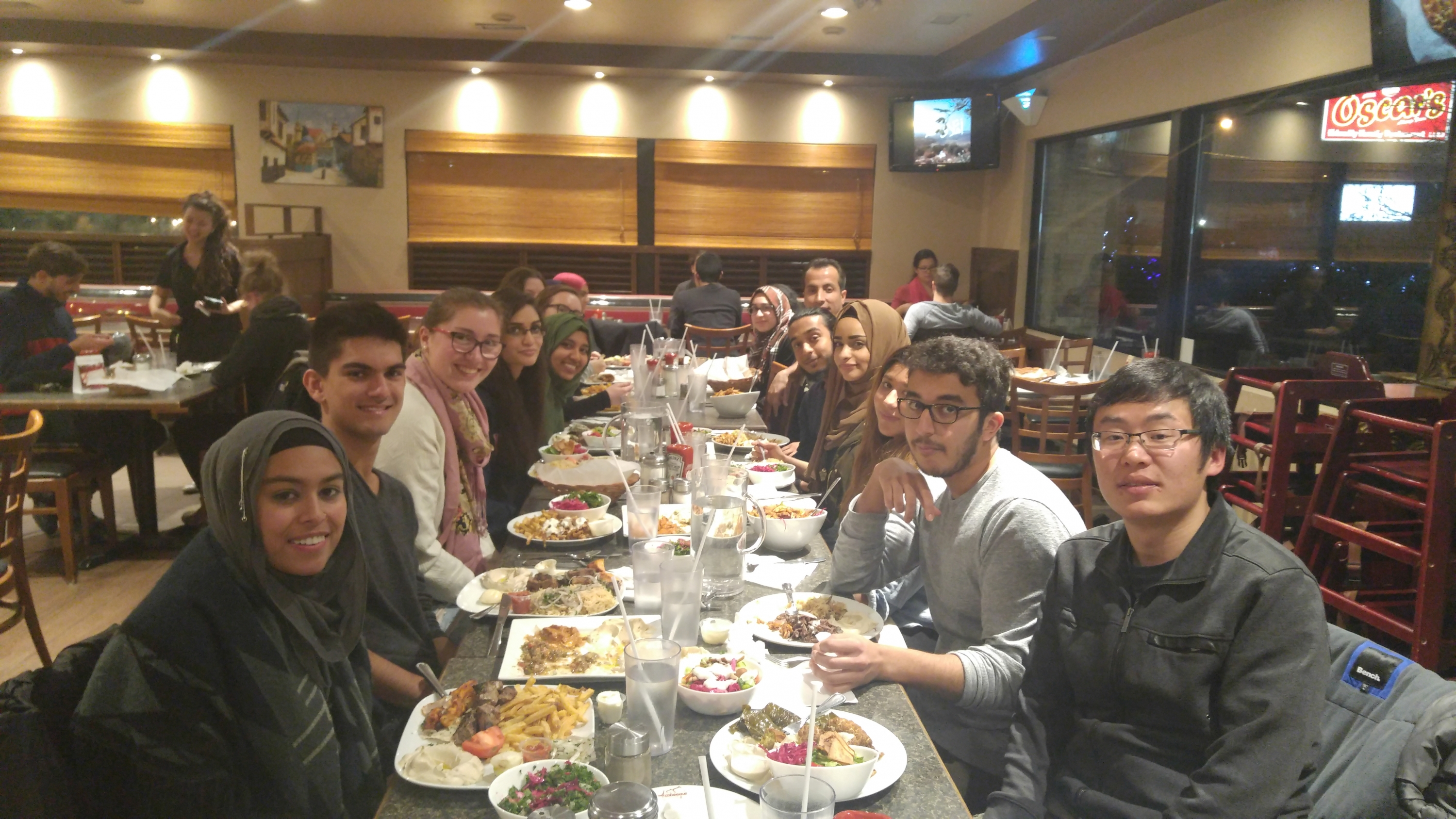 Studies in Islam Students enjoy Middle-Eastern cuisine at Arabesque