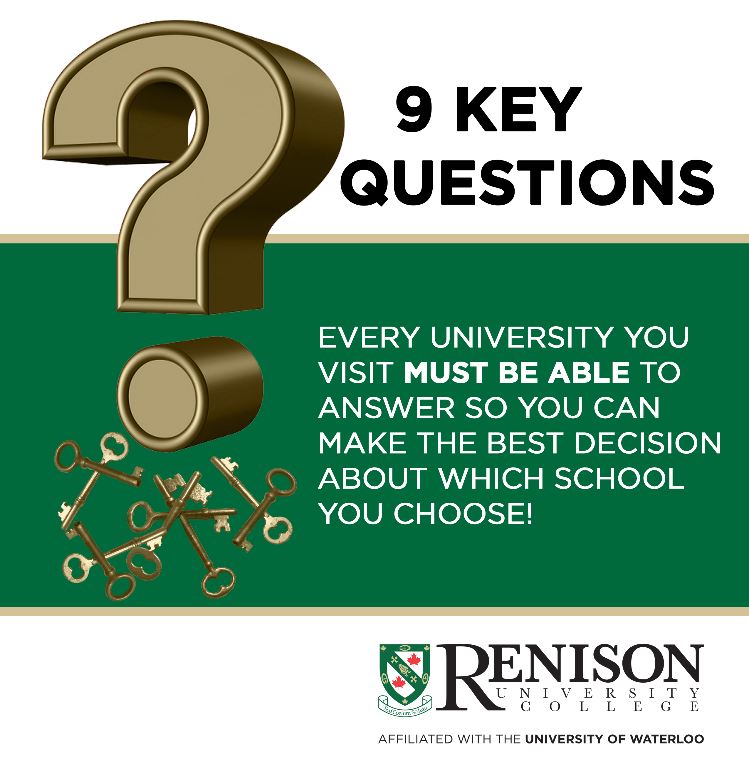 9 key questions every university must be able to answer so you can make the best decision about which school you choose!