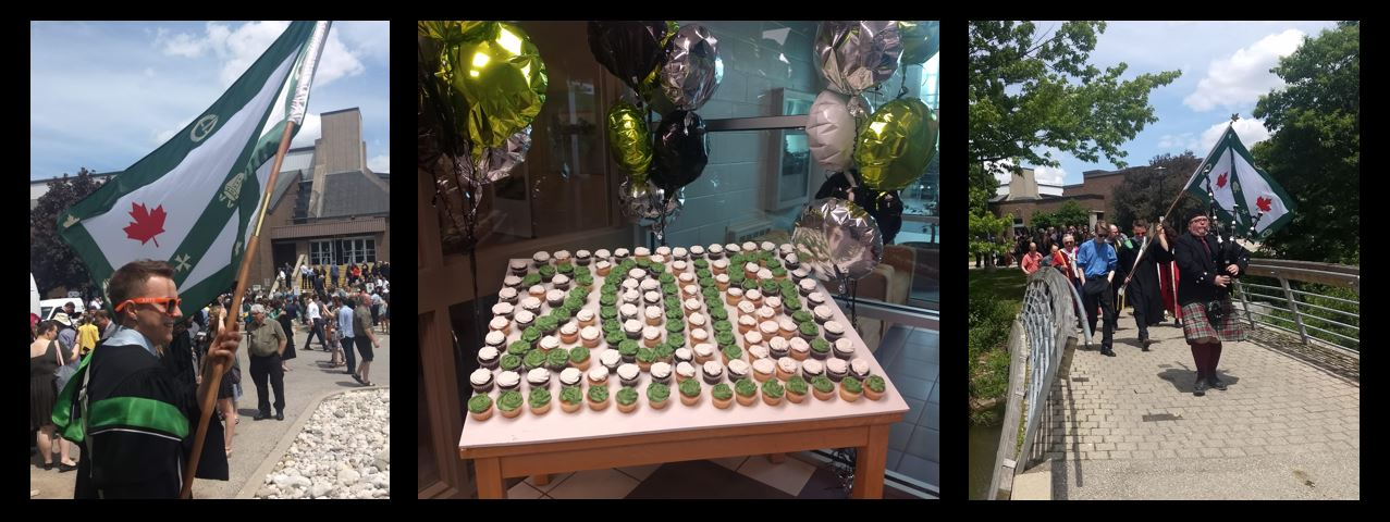 Photos from the convocation reception, cupcakes and the walk from main campus back to Renison.
