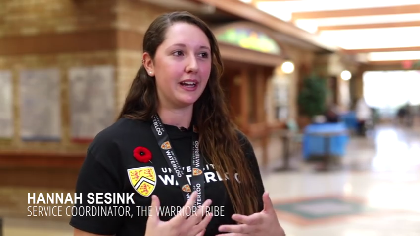 Hannah Sesink talks about her volunteer experience on Random Act of Kindness Day